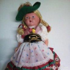 Muñecas Celuloide: MUÑECA ALEMANA CELULOIDE EN TRAJE REGIONAL. AÑOS 50.. Lote 96637199