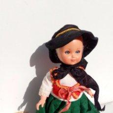 Muñecas Celuloide: PRECIOSA MUÑECA OJOS DURMIENTES PELO MOHAIR CELULOIDE ELSE BASLOW 1950. Lote 100222451