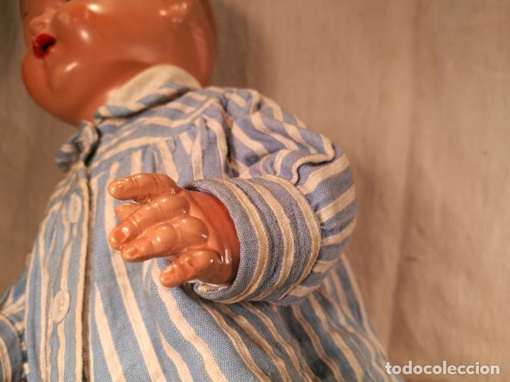 Muñecas Celuloide: MUÑECO / MUÑECA ALEMANA SCHILDKROT (TORTUGA) 36/41 CELULOIDE OJOS CRISTAL ALTURA 40 CMS BUEN ESTADO - Foto 12 - 101548051