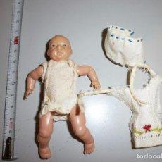 Muñecas Celuloide: PEQUEÑO MUÑECO BEBE DE CELULOIDE MARCA NORIS 9 1/2 MIDE 10 CM. Lote 102368887