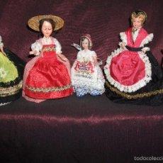 Muñecas Celuloide: ANTIGUAS MUÑECAS DE CELULOIDE. 5 . OJOS DURMIENTES. PRECIOSOS VESTIDOS. VER FOTOS. Lote 121567376