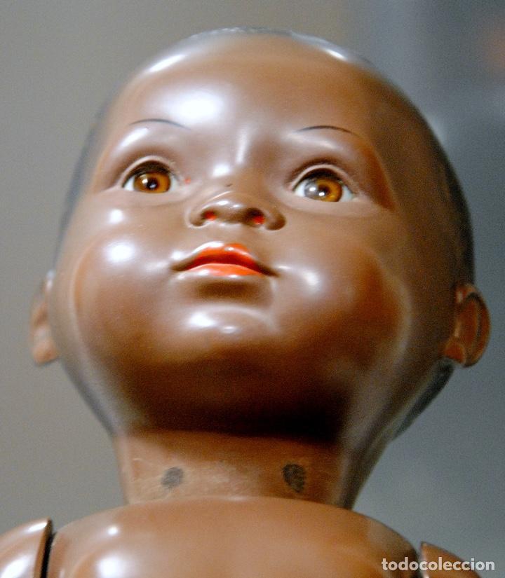 Muñecas Celuloide: ANTIGUO 'BUMBI'-SCHILDKRÖT 32-34 NEGRITO AÑOS 30-40 (TORTUGA) - Foto 6 - 109598123