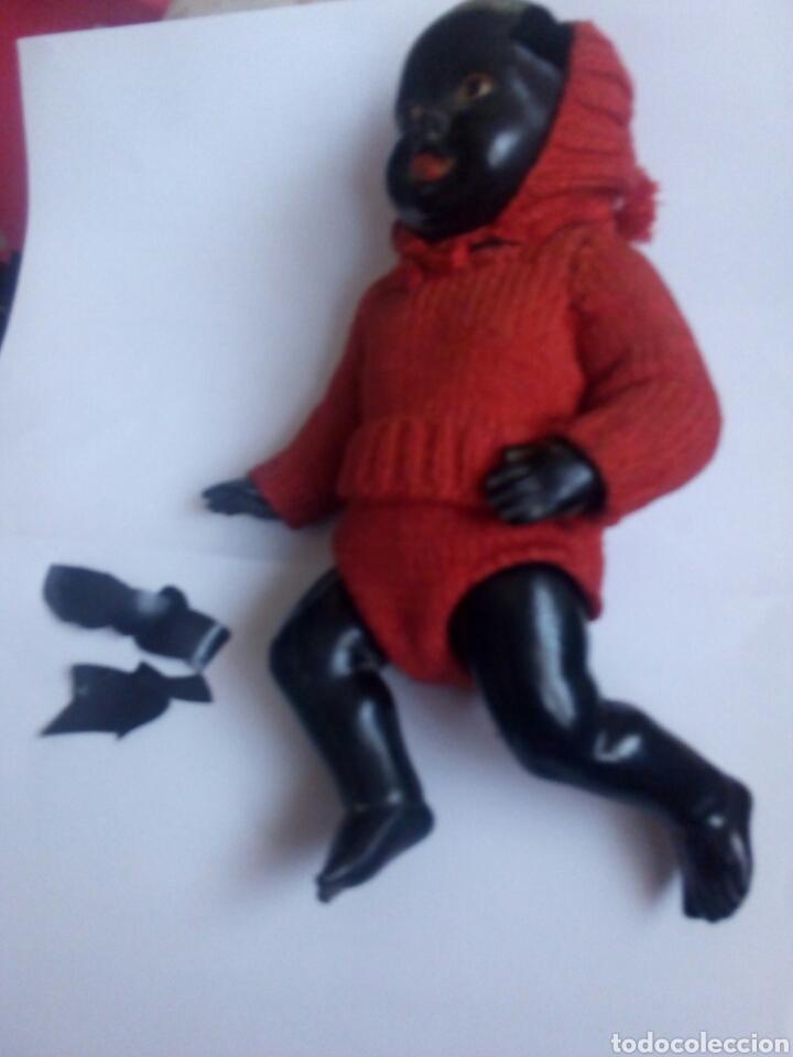 Muñecas Celuloide: Muñeco Celuloide Negro. Marca la Tortuga - Foto 2 - 111476564