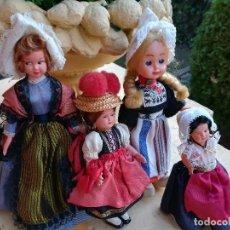 Muñecas Celuloide: MUÑECAS ANTIGUAS DE CELULOIDE FRANCESA HOLANDESA ALEMANA. Lote 112143111