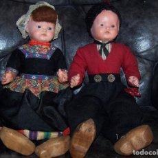 Muñecas Celuloide: PAREJA DE MUÑECOS DE CELULOIDE DE LA MARCA ALEMANA TORTUGA, CON LA NUMERACIÓN 109/35. PRINIPIOS S:XX. Lote 122190043