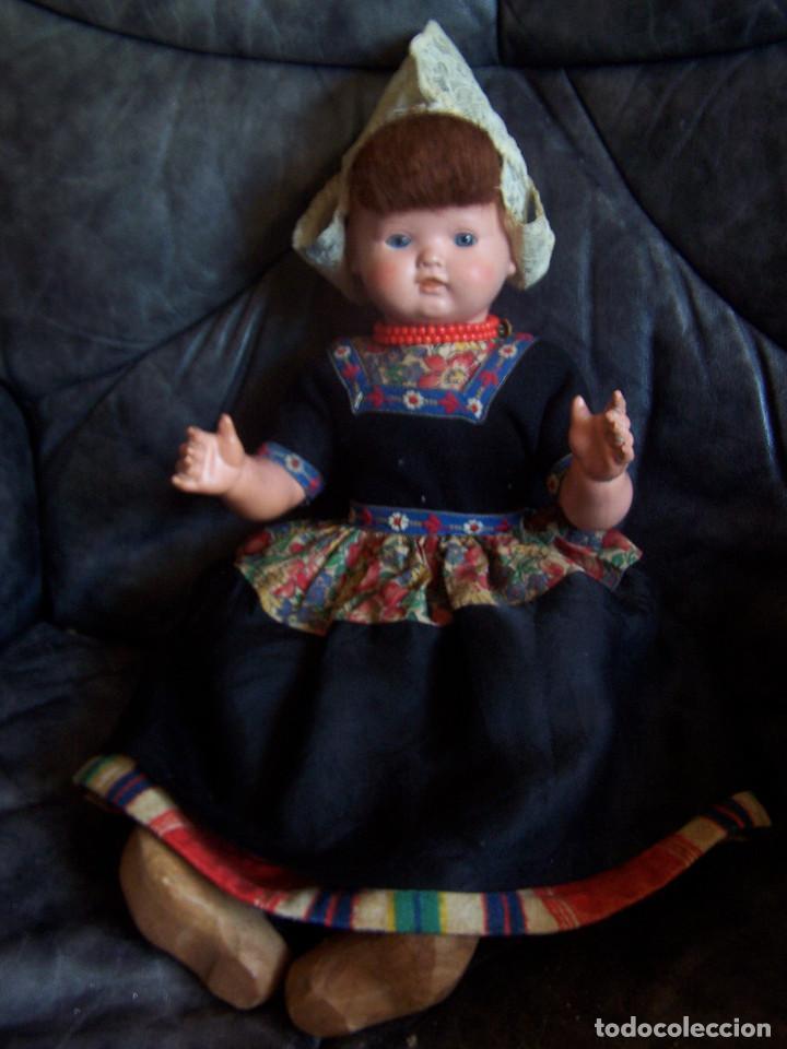Muñecas Celuloide: Pareja de muñecos de celuloide de la marca alemana tortuga, con la numeración 109/35. Prinipios S:XX - Foto 4 - 122190043