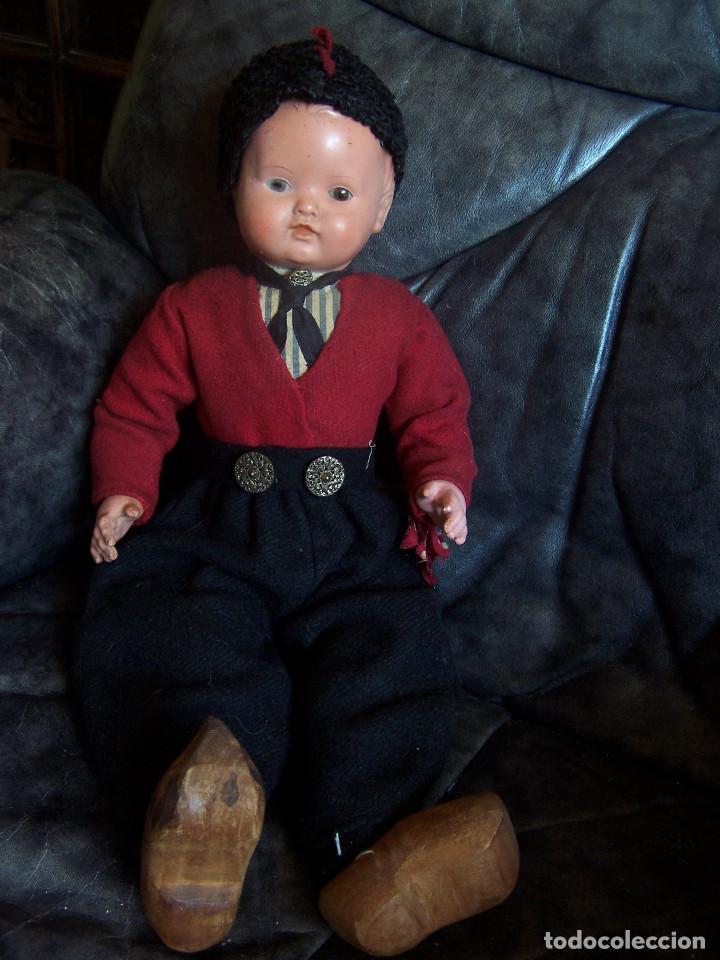 Muñecas Celuloide: Pareja de muñecos de celuloide de la marca alemana tortuga, con la numeración 109/35. Prinipios S:XX - Foto 6 - 122190043