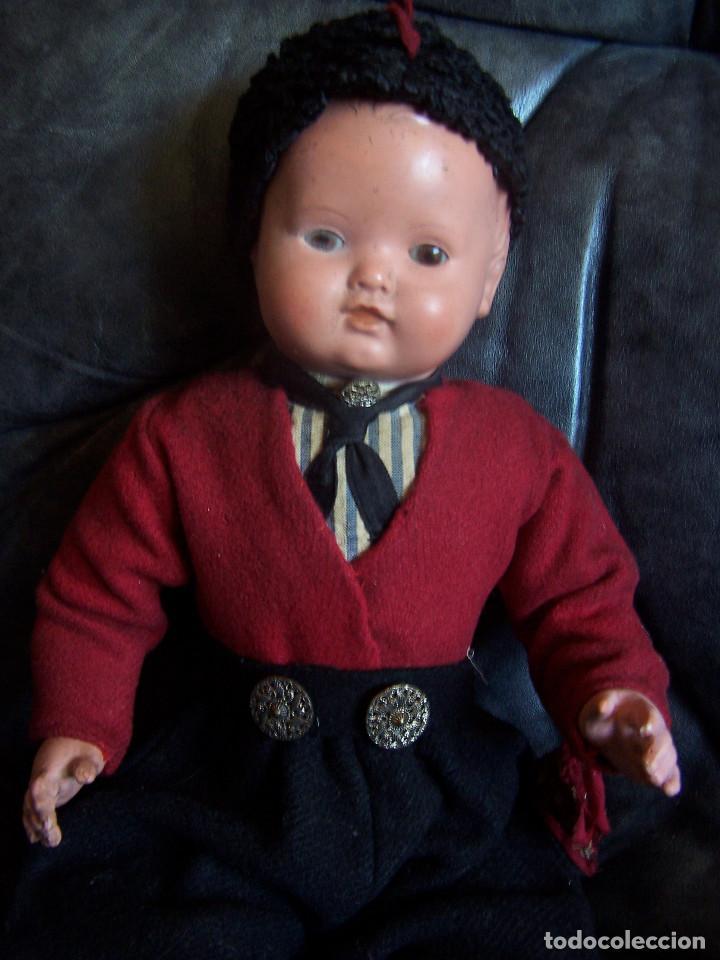Muñecas Celuloide: Pareja de muñecos de celuloide de la marca alemana tortuga, con la numeración 109/35. Prinipios S:XX - Foto 7 - 122190043
