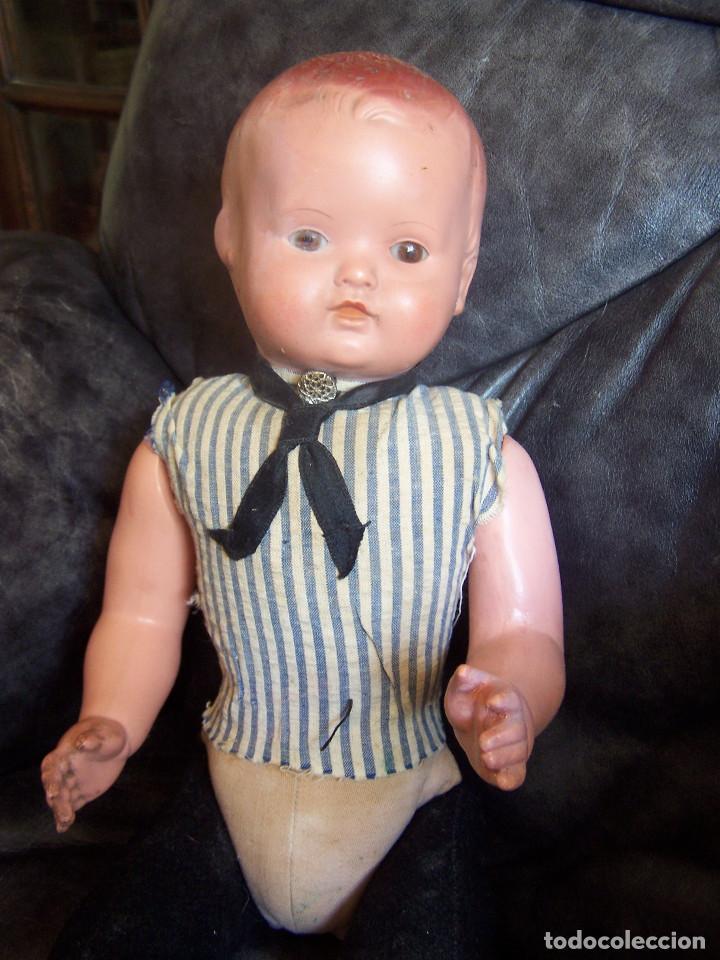 Muñecas Celuloide: Pareja de muñecos de celuloide de la marca alemana tortuga, con la numeración 109/35. Prinipios S:XX - Foto 9 - 122190043