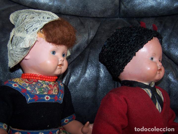 Muñecas Celuloide: Pareja de muñecos de celuloide de la marca alemana tortuga, con la numeración 109/35. Prinipios S:XX - Foto 12 - 122190043