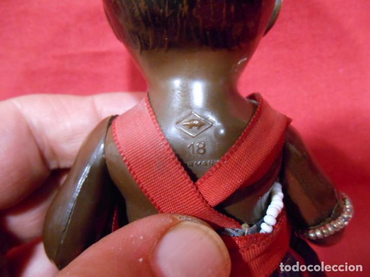Muñecas Celuloide: ANTIGUA MUÑECA DE CELULOIDE MARCA SCHILDKRÖT 18 NEGRITA - AÑOS 30-40 -TORTUGA EN ROMBO - GERMANY - - Foto 4 - 134787442