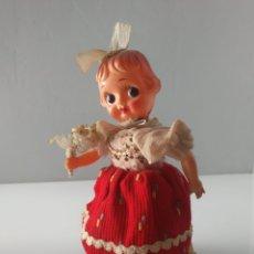 Muñecas Celuloide: ANTIGUA MUÑECA AUTÓMATA MADE JAPAN CUERDA. Lote 134848415