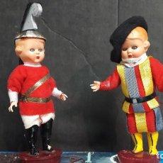 Muñecas Celuloide: 2 MUÑECOS DE CELULOIDE CON OJOS ARTICULADOS. Lote 136161522