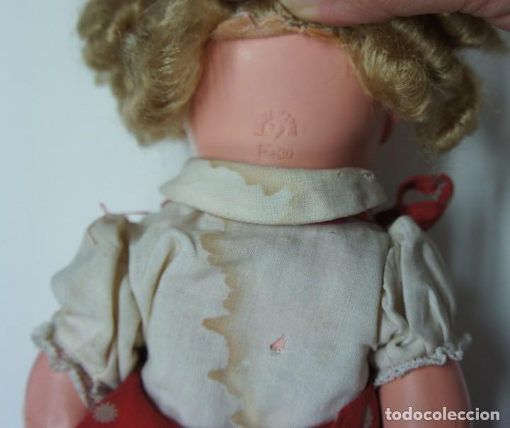 Muñecas Celuloide: MUÑECA DE CELULOIDE ALEMANA OJOS DE CRISTAL CON MARCA DE CORAZÓN ,MIDE 38 cm. - Foto 7 - 136887558