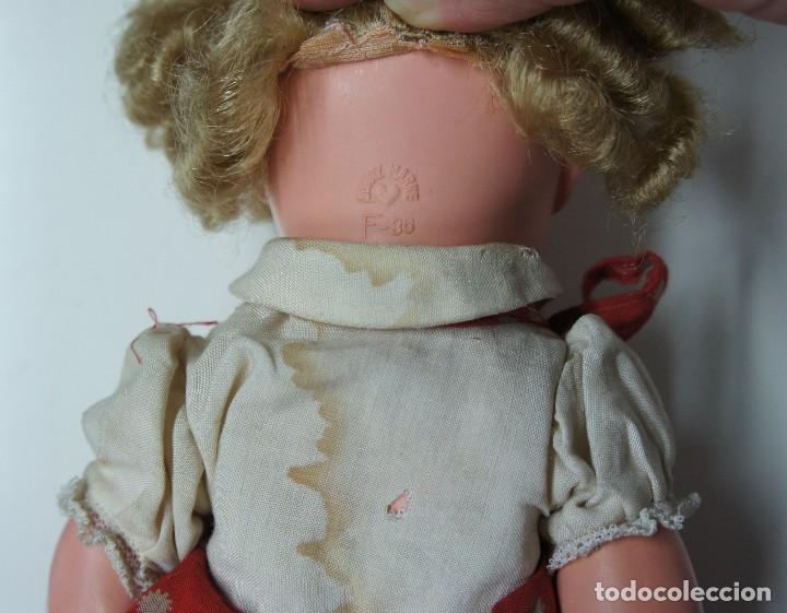 Muñecas Celuloide: MUÑECA DE CELULOIDE ALEMANA OJOS DE CRISTAL CON MARCA DE CORAZÓN ,MIDE 38 cm. - Foto 8 - 136887558