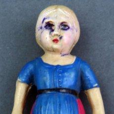 Muñecas Celuloide: MUÑECA CELULOIDE TIPO SONAJERO CARA MANCHADA AÑOS 50 11 CM . Lote 141799426
