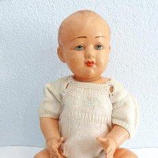 Muñecas Celuloide: MUÑECA MARCA PETITCOLLIN AÑOS 50. Lote 151480586