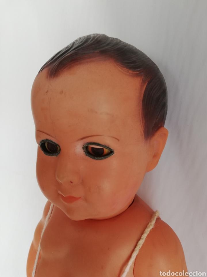 Muñecas Celuloide: Muñeco bebé antiguo francés de celuloide.. Muñeca sello Francia - Foto 2 - 151729433