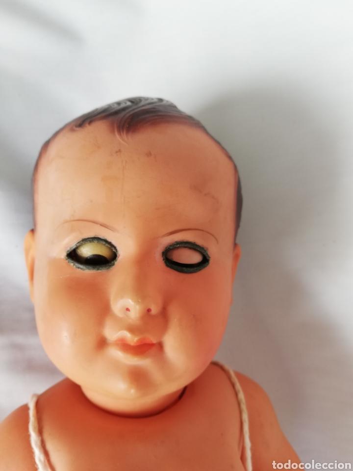 Muñecas Celuloide: Muñeco bebé antiguo francés de celuloide.. Muñeca sello Francia - Foto 5 - 151729433