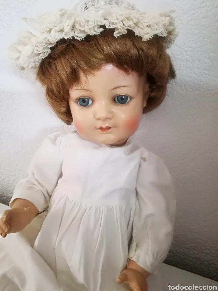 Muñecas Celuloide: Preciosa muñeca alemana de celuloide con marca en la nuca - Foto 2 - 158429153