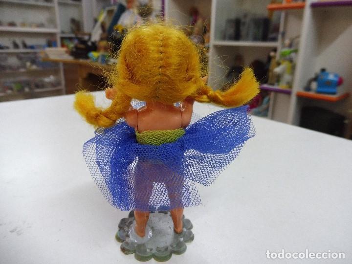 Muñecas Celuloide: Muñeca celuloide plástico duro articulada bailarina con base falda y corpiño de tul - Foto 6 - 160596890