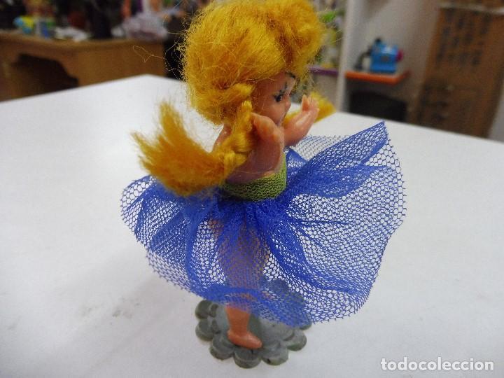 Muñecas Celuloide: Muñeca celuloide plástico duro articulada bailarina con base falda y corpiño de tul - Foto 9 - 160596890