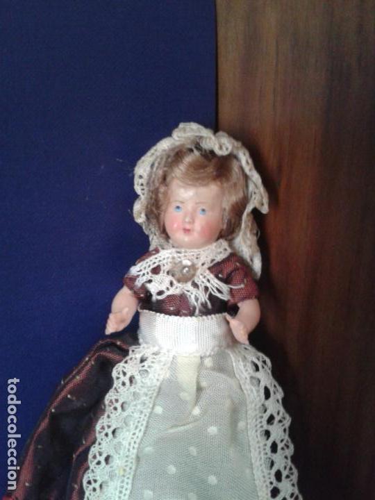 Zelluloid-Puppen: Muñeca pequeña francesa de celuloide años 50. - Foto 3 - 160670578