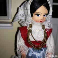 Muñecas Celuloide: PRECIOSA MUÑECA CARITA DE CARTÓN, RESTO DE CELULOIDE ANTIGUA. Lote 164587826