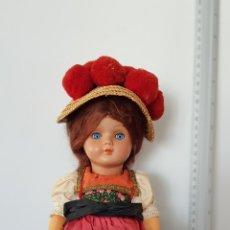 Muñecas Celuloide: ANTIGUA MUÑECA CELULOIDE AÑOS 60'S / 70'S VESTIDA DE REGIONAL. Lote 164868385