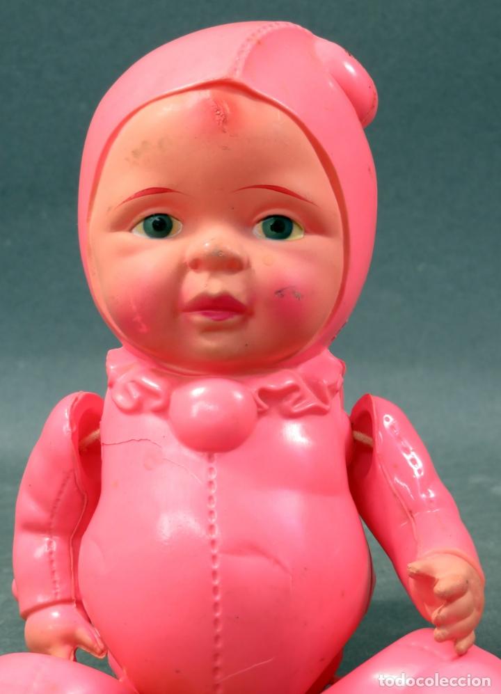 Muñecas Celuloide: Bebé duende rosa celuloide japonés Made in Japan años 50 - Foto 2 - 166412922