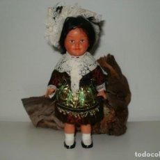 Muñecas Celuloide: MUÑECA A CUERDA REGIONAL PROBABLE ALEMANIA FUNCIONA. Lote 171205553