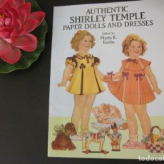 Muñecas Celuloide: REIMPRESO AUTENTICO RECORTABLE MUÑECA SHIRLEY TEMPLE EDITORIAL SAALFIELD EN 1937. Lote 172849694