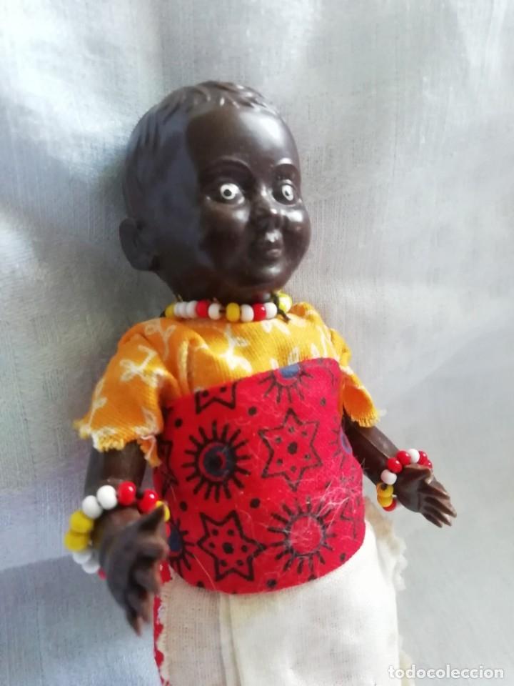 Muñecas Celuloide: Antigua muñequita con bebé 16cm - Foto 2 - 175646834