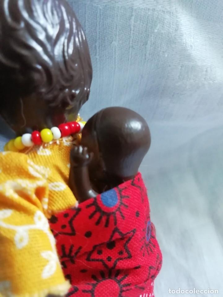 Muñecas Celuloide: Antigua muñequita con bebé 16cm - Foto 5 - 175646834