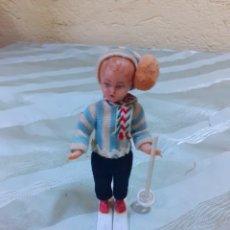 Muñecas Celuloide: MUÑECO ESQUIADOR AÑOS 50. Lote 182308670