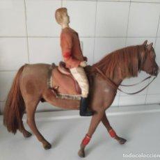 Muñecas Celuloide: ANTIGUO CABALLO CON JINETE ALEMÁN. CELULOIDE. LIEHA. Lote 184307136