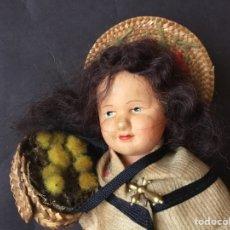Muñecas Celuloide: MUÑECA FRANCESA ANTIGUA PETITCOLLIN CON VESTIDO DE NIZA. Lote 185699961