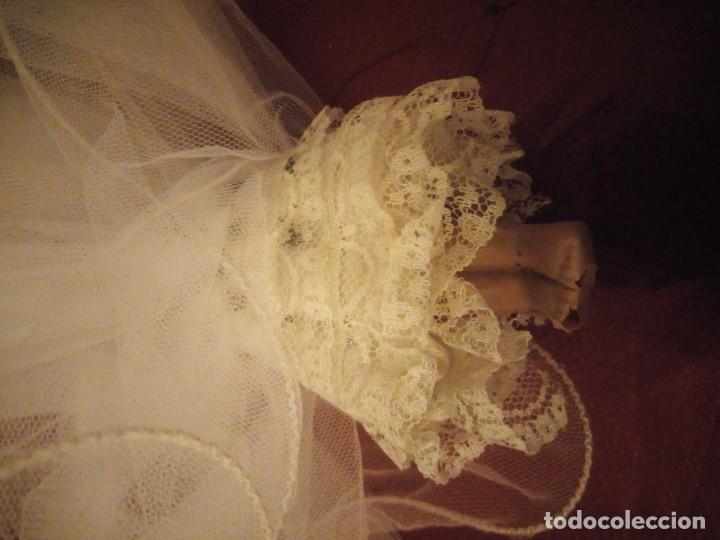 Muñecas Celuloide: Antigua muñeca de celuloide vestida de hada ideal decoración navideña - Foto 5 - 186168096