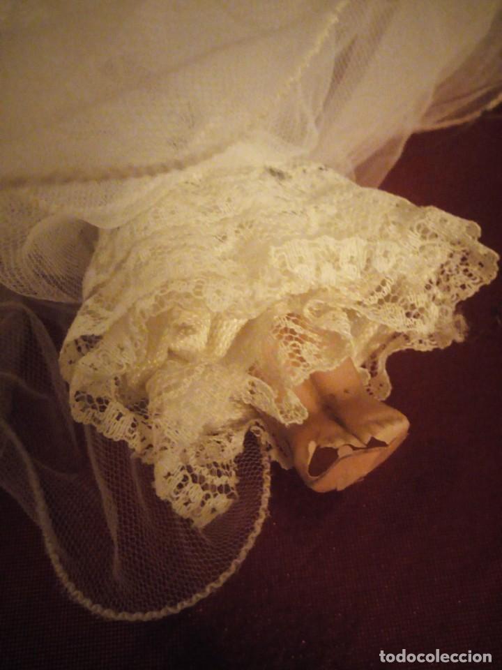 Muñecas Celuloide: Antigua muñeca de celuloide vestida de hada ideal decoración navideña - Foto 6 - 186168096