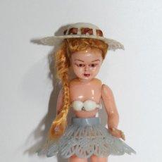 Muñecas Celuloide: ANTIGUA MUÑECA CELULOIDE CARITA DECORADA Y PELO MOHAIR - NO ESTA MARCADA. Lote 192372078