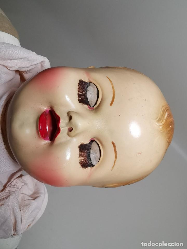Muñecas Celuloide: Bebé Raynal celuloide cuerpo trapo..43 cm ojos oscilantes-francia años 40 - Foto 5 - 193740175