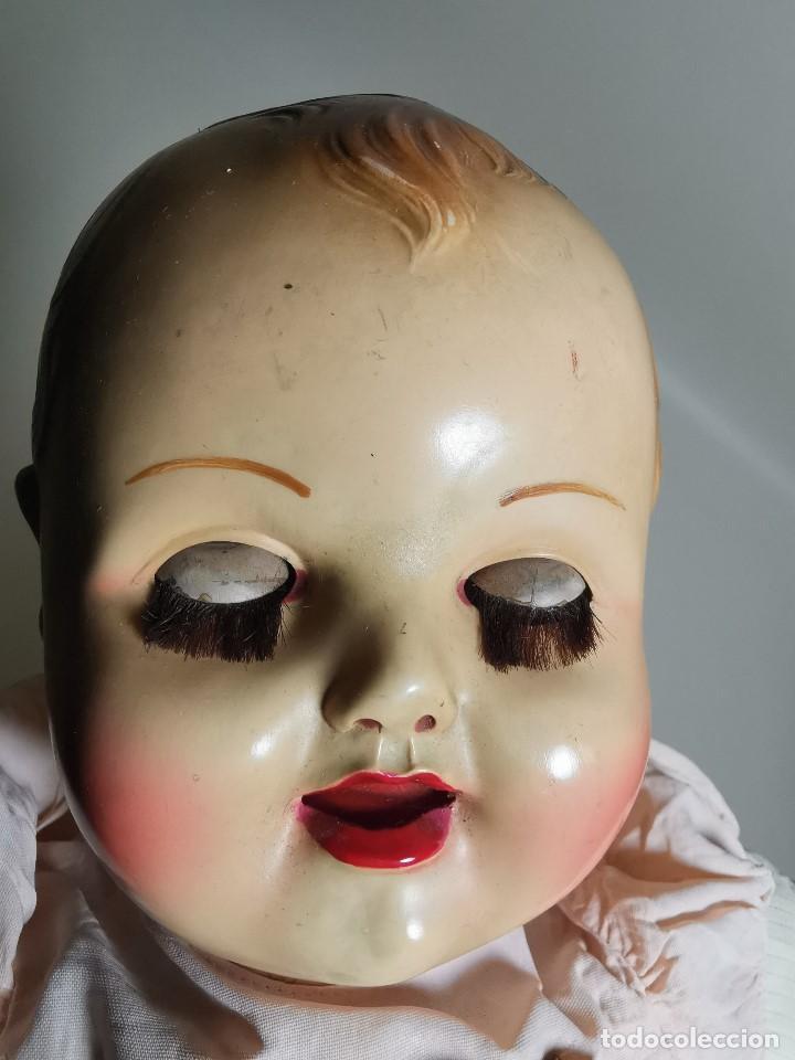 Muñecas Celuloide: Bebé Raynal celuloide cuerpo trapo..43 cm ojos oscilantes-francia años 40 - Foto 6 - 193740175