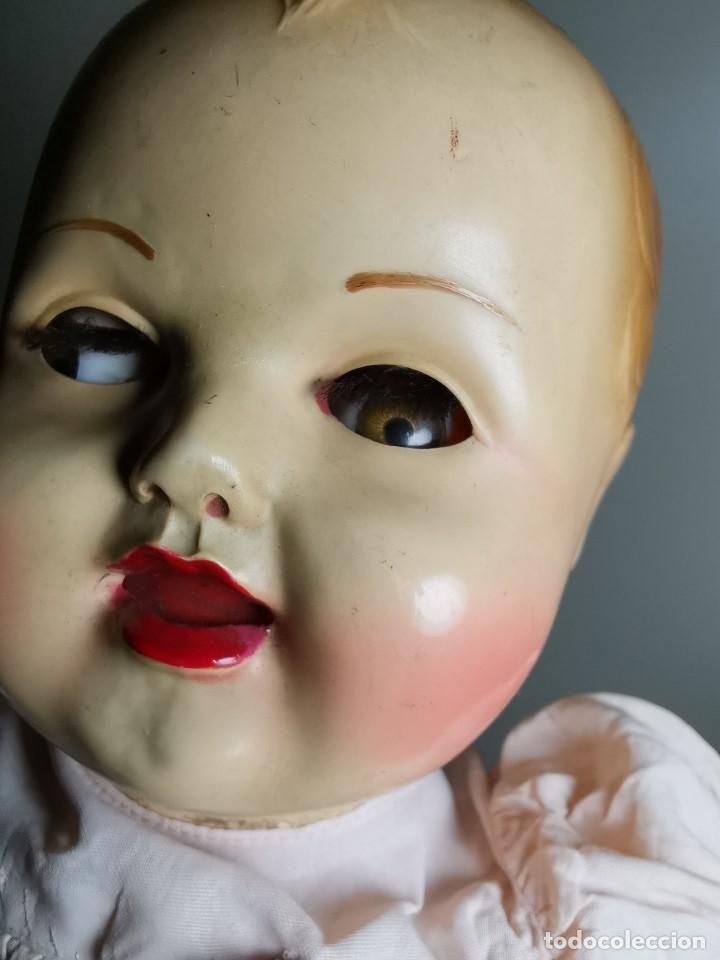 Muñecas Celuloide: Bebé Raynal celuloide cuerpo trapo..43 cm ojos oscilantes-francia años 40 - Foto 8 - 193740175