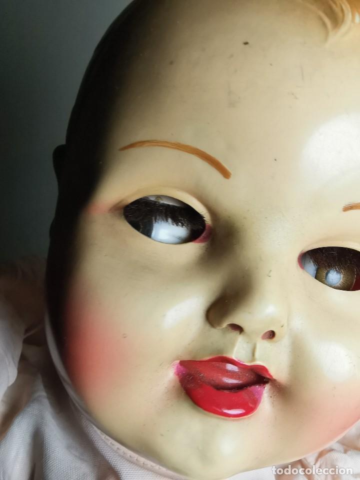 Muñecas Celuloide: Bebé Raynal celuloide cuerpo trapo..43 cm ojos oscilantes-francia años 40 - Foto 9 - 193740175