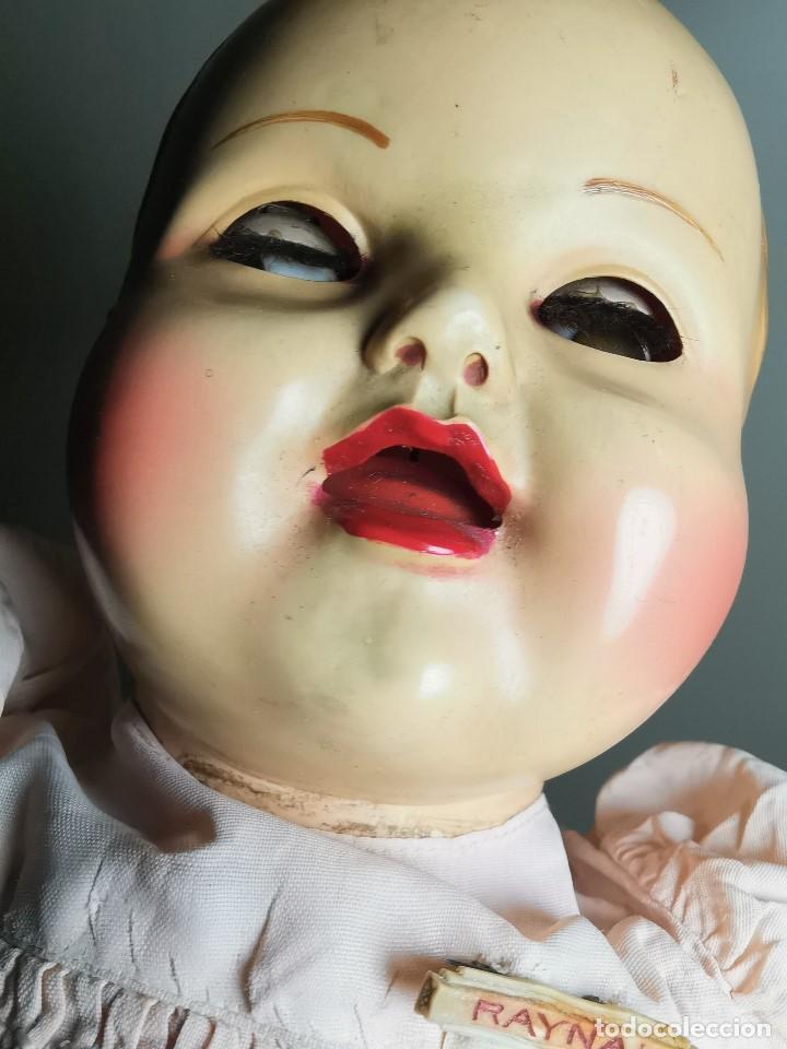 Muñecas Celuloide: Bebé Raynal celuloide cuerpo trapo..43 cm ojos oscilantes-francia años 40 - Foto 10 - 193740175