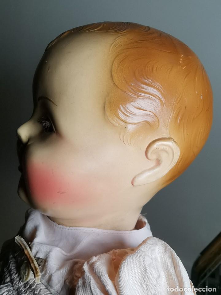 Muñecas Celuloide: Bebé Raynal celuloide cuerpo trapo..43 cm ojos oscilantes-francia años 40 - Foto 13 - 193740175