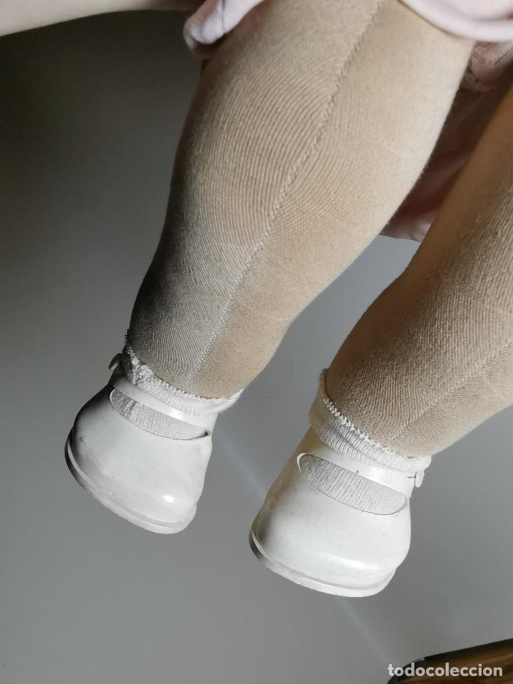 Muñecas Celuloide: Bebé Raynal celuloide cuerpo trapo..43 cm ojos oscilantes-francia años 40 - Foto 16 - 193740175