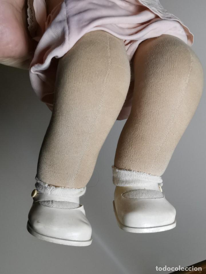 Muñecas Celuloide: Bebé Raynal celuloide cuerpo trapo..43 cm ojos oscilantes-francia años 40 - Foto 19 - 193740175