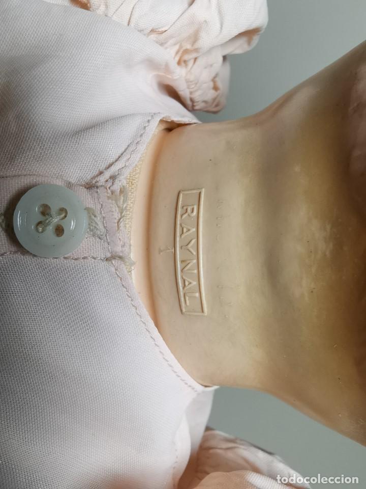 Muñecas Celuloide: Bebé Raynal celuloide cuerpo trapo..43 cm ojos oscilantes-francia años 40 - Foto 24 - 193740175