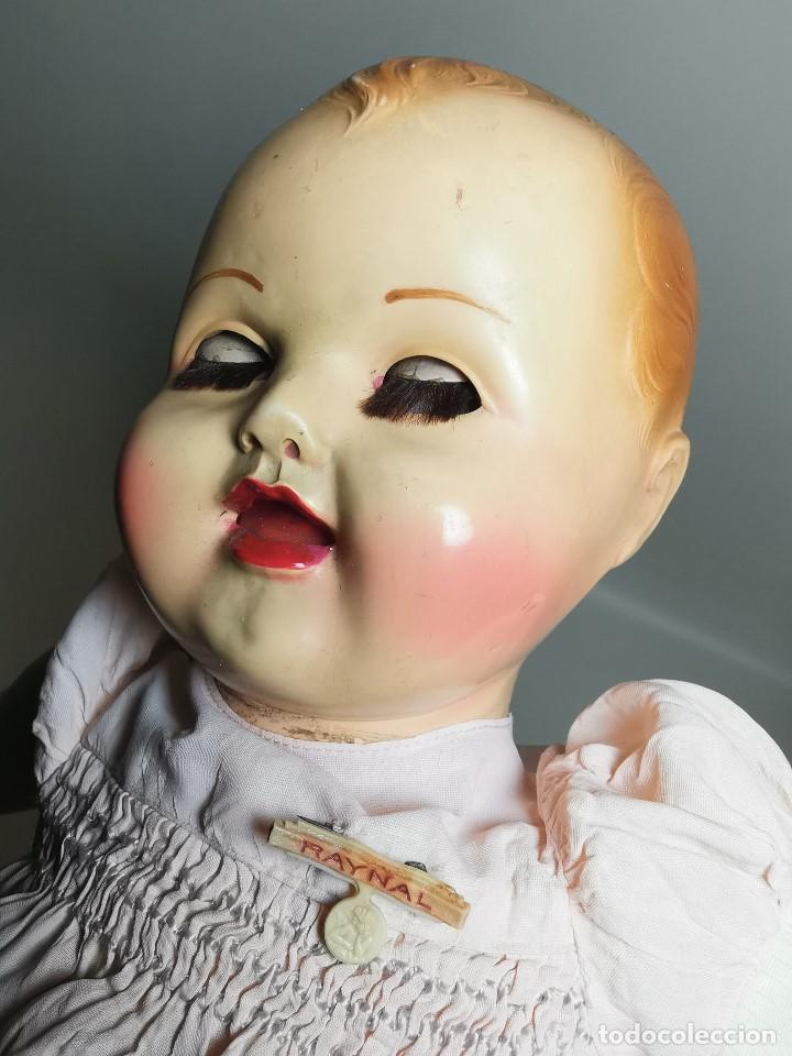 Muñecas Celuloide: Bebé Raynal celuloide cuerpo trapo..43 cm ojos oscilantes-francia años 40 - Foto 31 - 193740175